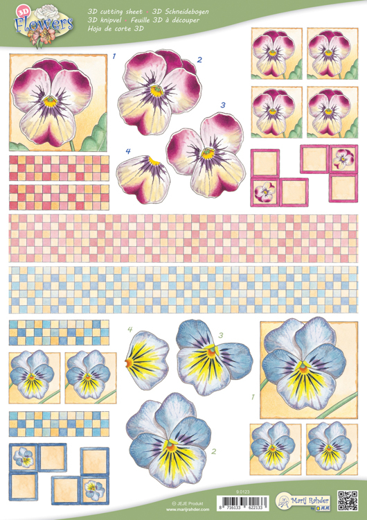 9.0123 10 A4 3D Flowers Cutting sheets