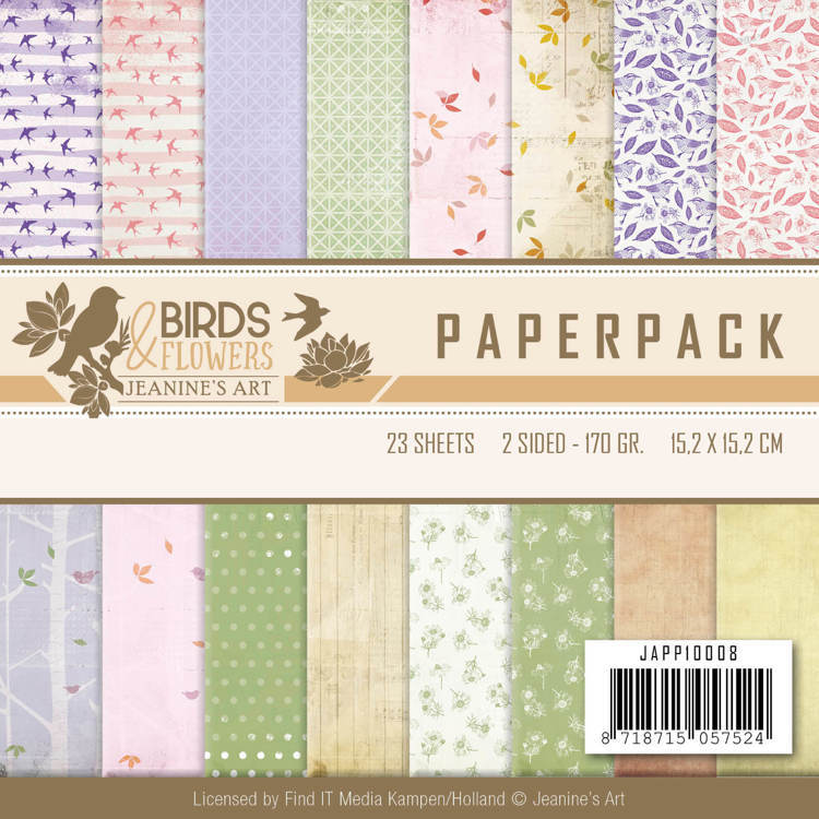 JAPP10008 Paperpack - Jeanine's Art - Birds and Flowers