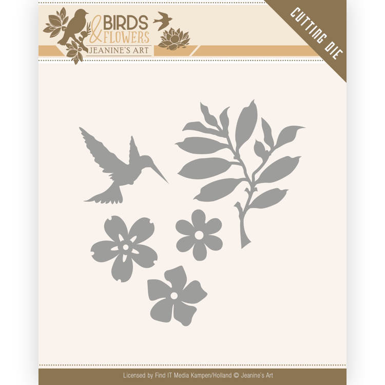 JAD10063 Dies - Jeanine's Art - Birds and Flowers - Birds Foliage