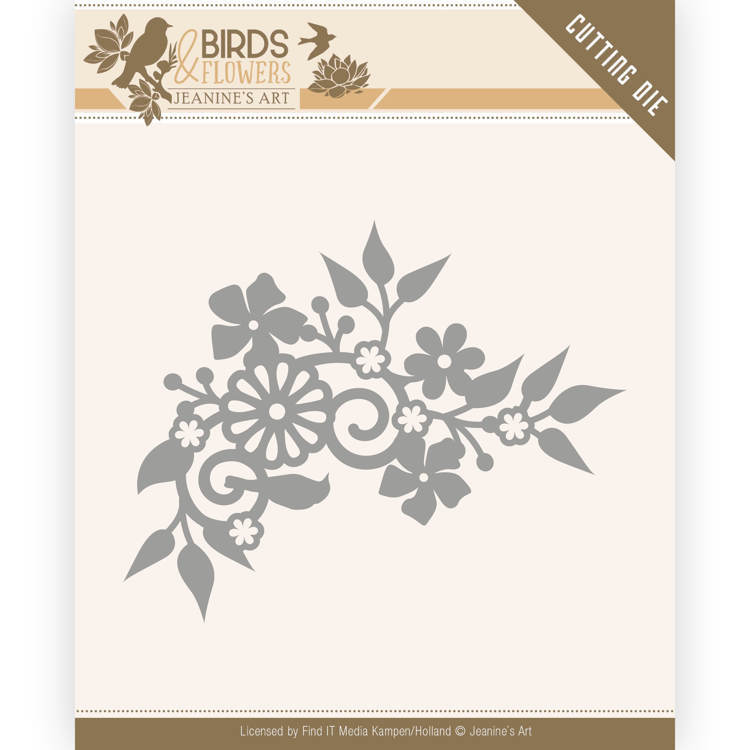JAD10062 Dies - Jeanine's Art - Birds and Flowers - Birds Corner