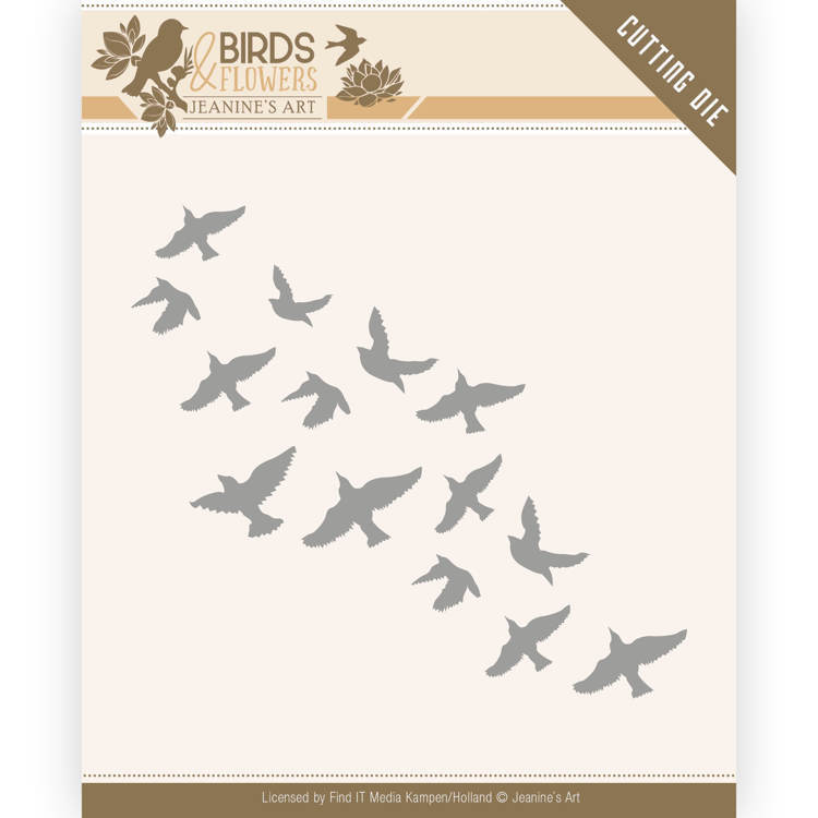 JAD10061 Dies - Jeanine's Art - Birds and Flowers - Flock of Birds