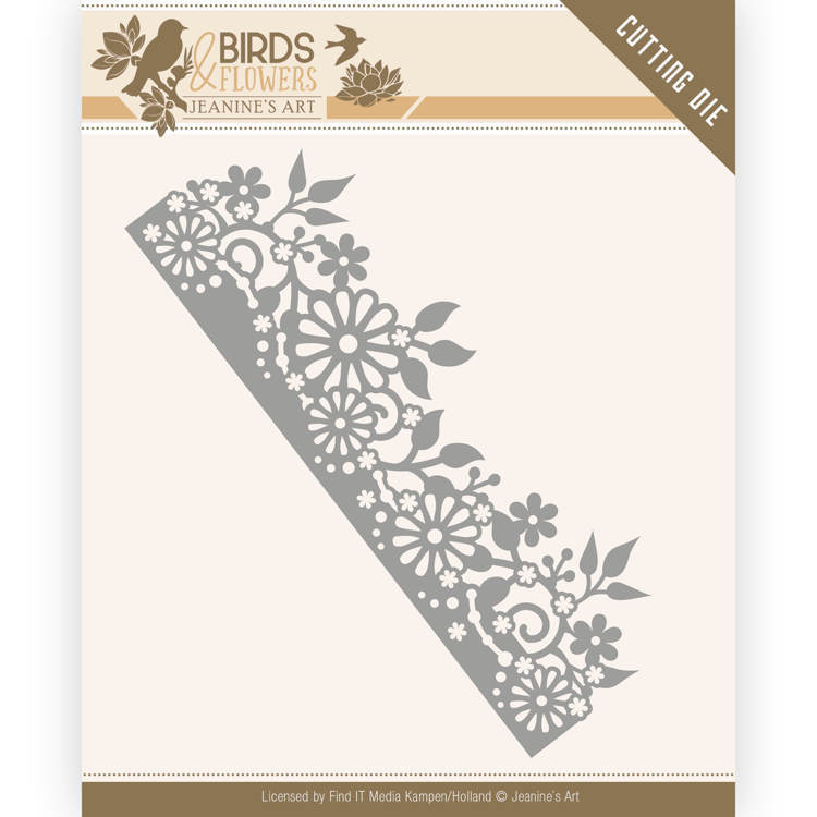 JAD10058 Dies - Jeanine's Art - Birds and Flowers - Daisy Border