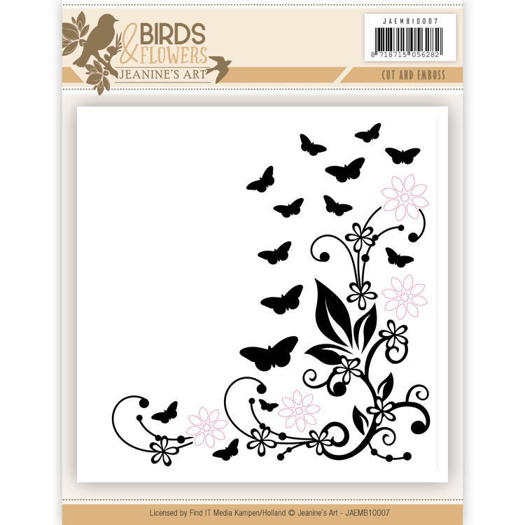 JAEMB10007 Cut and Embossing folder - Jeanine's Art - Birds and Flowers