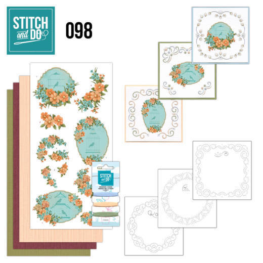 STDO098 Stitch and Do 98 Floral Birdcages