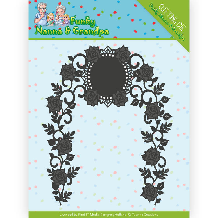 YCD10158 Dies - Yvonne Creations - Funky Nanna's - Floral Arch