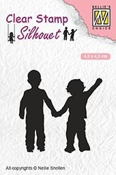 SIL051 Clear stamps silhouette Childrs play close friends