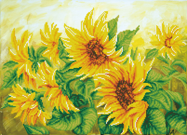 DD10.023 Diamond Dotz® - 57x41cm Hazy Daze Sunflowers (#1901)