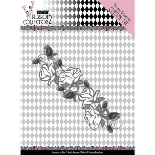 YCD10162 Dies - Yvonne Creations- Pretty Pierrot 2 - Rose Border
