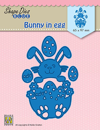 "SDB072 Shape Dies Blue ""Bunny in egg"""