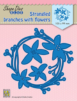 "SDB074 Shape Dies Blue ""stangled branches with flowers"""