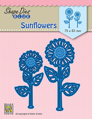 "SDB076 Shape Dies Blue ""sunflowers"""