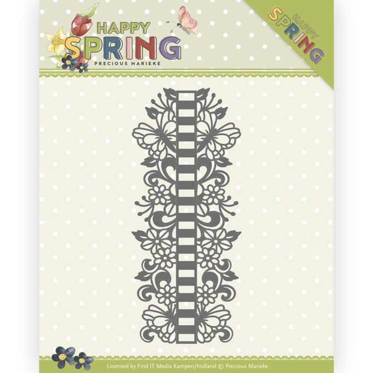 PM10147 Dies - Precious Marieke - Happy Spring - Ribbon Border  (#HJ167)