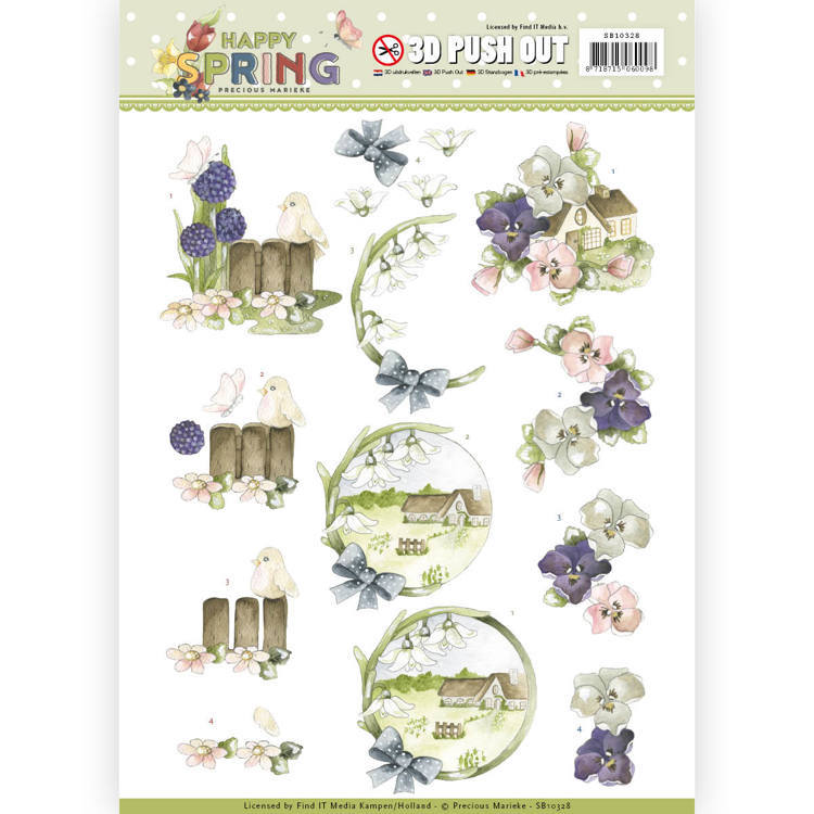 SB10328 3D Pushout - Precious Marieke - Happy Spring - Happy on the Farm  (#HJ167)
