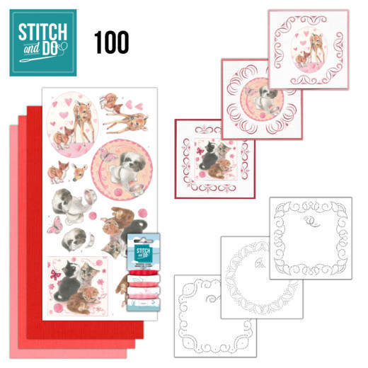 STDO100 Stitch and Do 100 Playful Pets
