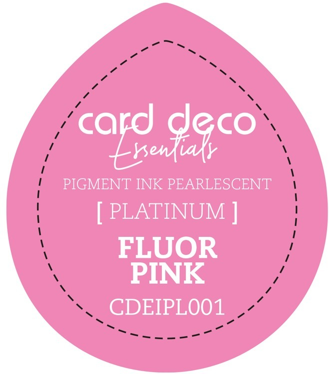 CDEIPL001 Card Deco Essentials Fast-Drying Pigment Ink Pearlescent Fluor Pink