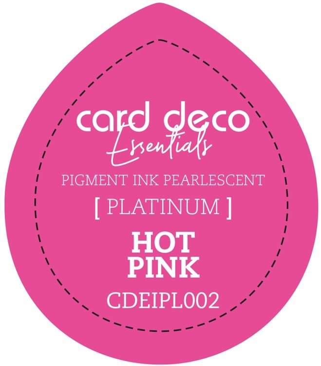 CDEIPL002 Card Deco Essentials Fast-Drying Pigment Ink Pearlescent Hot Pink