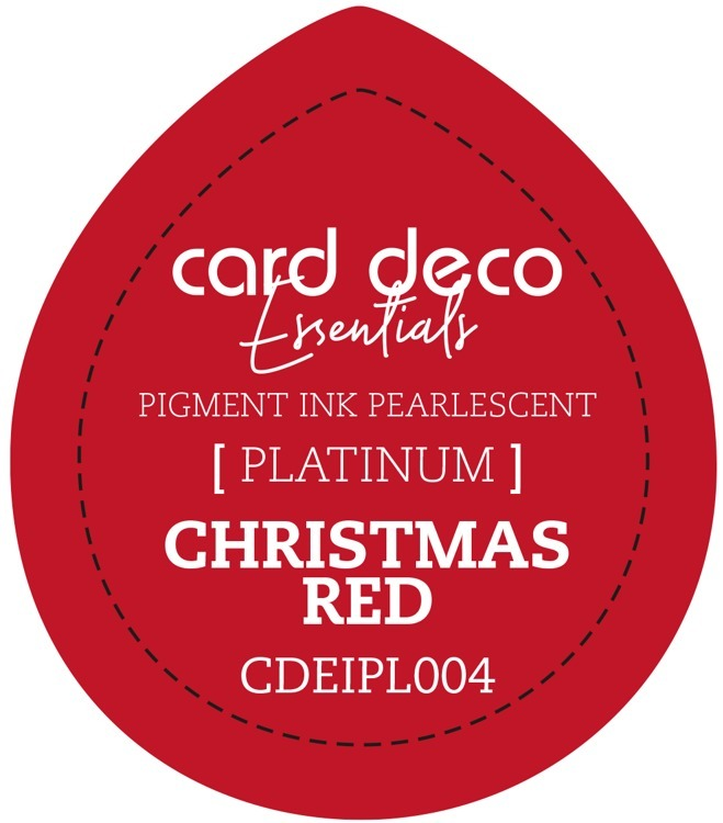 CDEIPL004 Card Deco Essentials Fast-Drying Pigment Ink Pearlescent Christmas Red