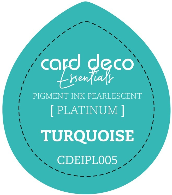 CDEIPL005 Card Deco Essentials Fast-Drying Pigment Ink Pearlescent Turquoise