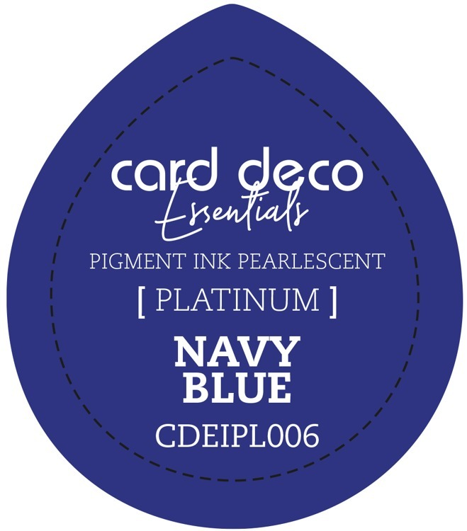 CDEIPL006 Card Deco Essentials Fast-Drying Pigment Ink Pearlescent Navy Blue