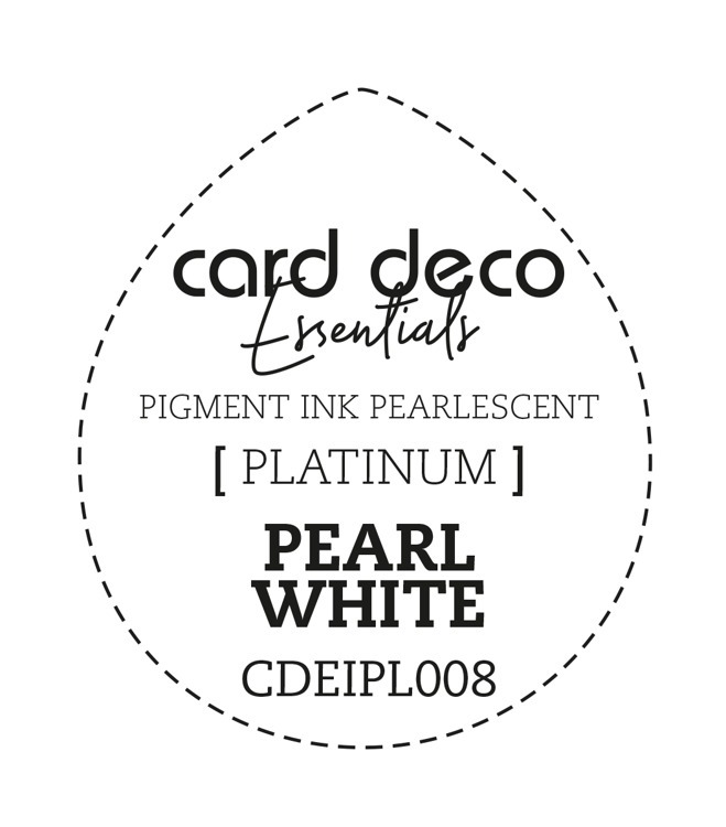 CDEIPL008 Card Deco Essentials Fast-Drying Pigment Ink Pearlescent Pearl White