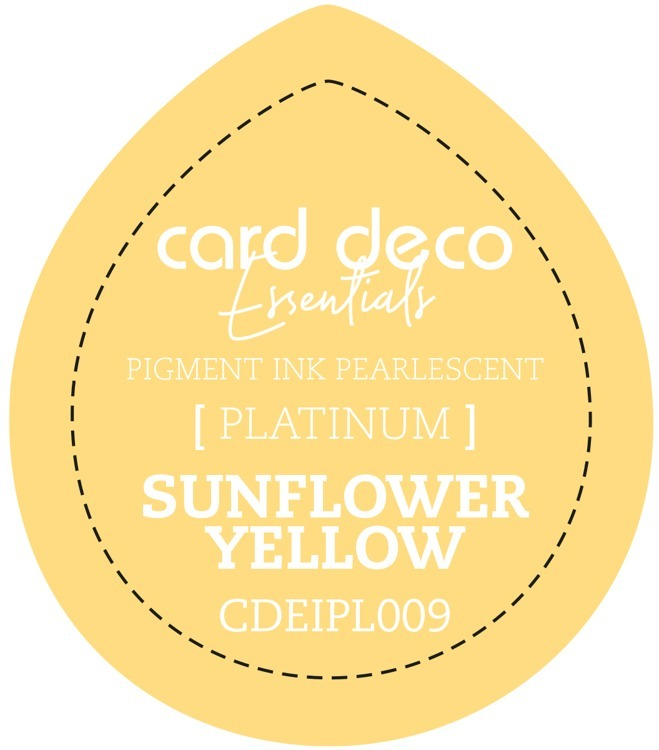 CDEIPL009 Card Deco Essentials Fast-Drying Pigment Ink Pearlescent Sunflower Yellow