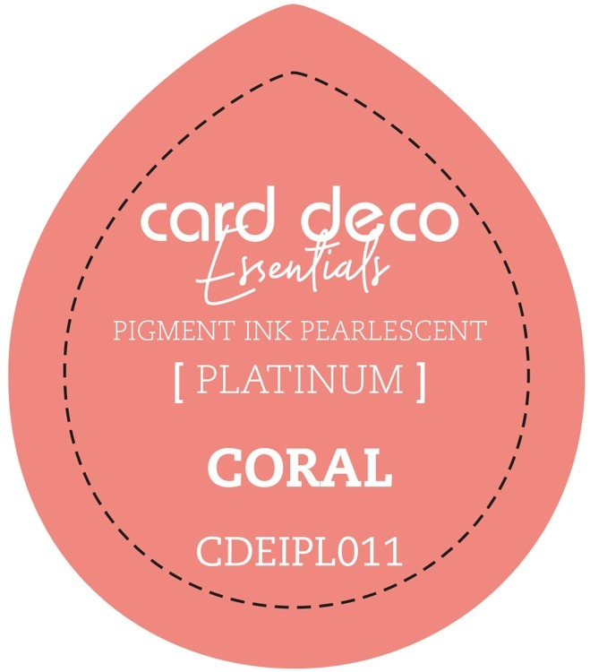 CDEIPL011 Card Deco Essentials Fast-Drying Pigment Ink Pearlescent Coral