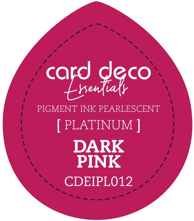 CDEIPL012 Card Deco Essentials Fast-Drying Pigment Ink Pearlescent Dark Pink