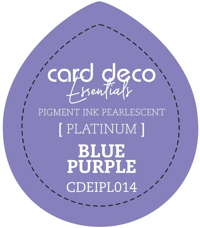 CDEIPL014 Card Deco Essentials Fast-Drying Pigment Ink Pearlescent Blue Purple