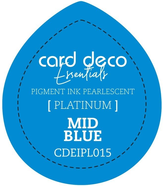 CDEIPL015 Card Deco Essentials Fast-Drying Pigment Ink Pearlescent Mid Blue