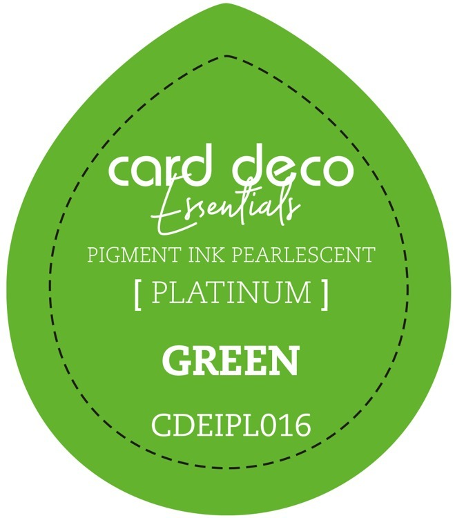 CDEIPL016 Card Deco Essentials Fast-Drying Pigment Ink Pearlescent Green