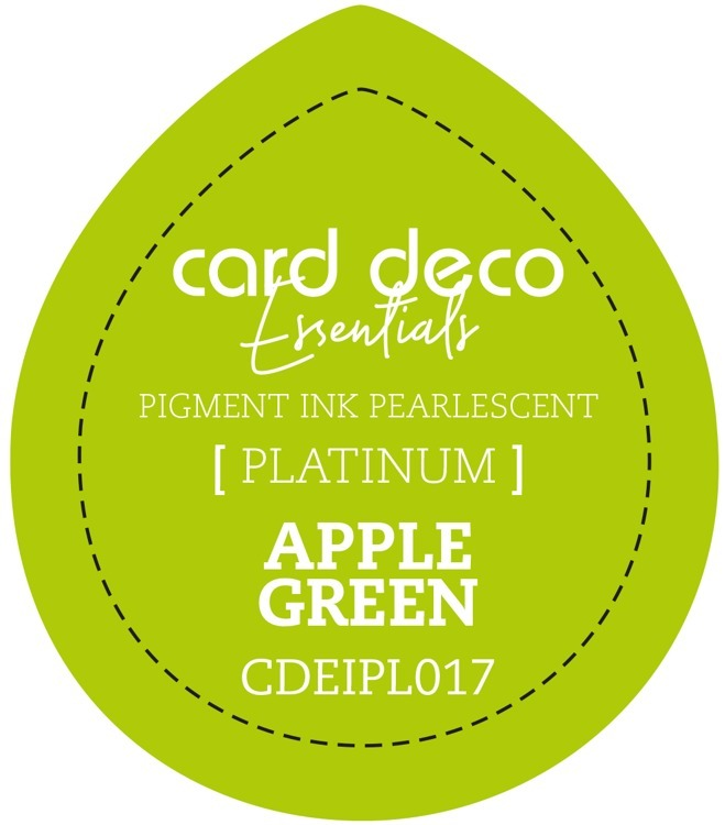 CDEIPL017 Card Deco Essentials Fast-Drying Pigment Ink Pearlescent Apple Green