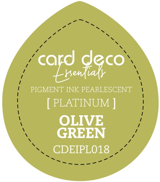 CDEIPL018 Card Deco Essentials Fast-Drying Pigment Ink Pearlescent Olive Green
