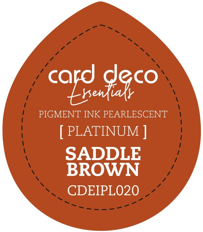 CDEIPL020 Card Deco Essentials Fast-Drying Pigment Ink Pearlescent Saddle Brown