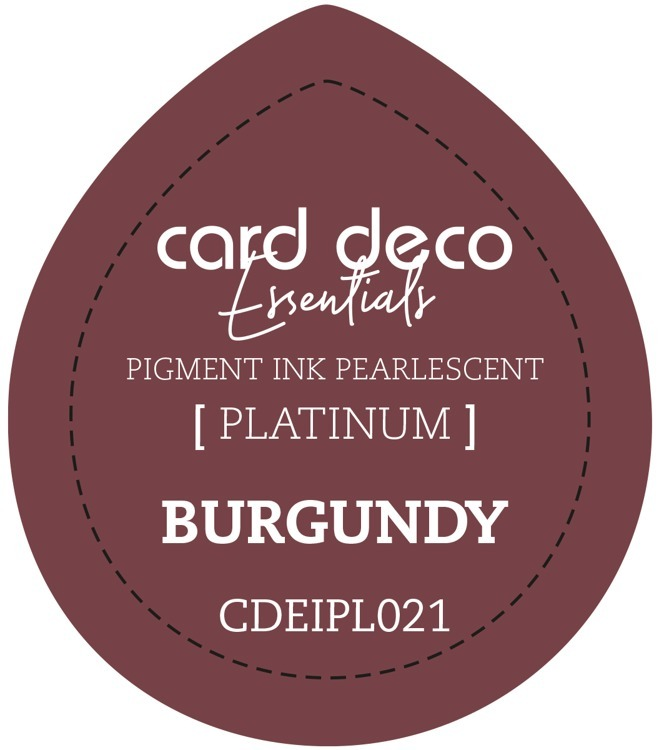 CDEIPL021 Card Deco Essentials Fast-Drying Pigment Ink Pearlescent Burgundy