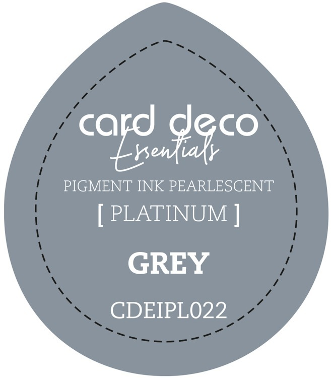 CDEIPL022 Card Deco Essentials Fast-Drying Pigment Ink Pearlescent Grey
