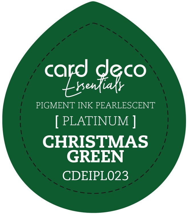 CDEIPL023 Card Deco Essentials Fast-Drying Pigment Ink Pearlescent Christmas Green