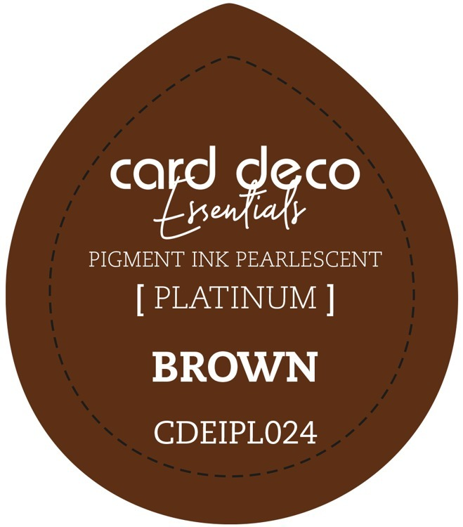 CDEIPL024 Card Deco Essentials Fast-Drying Pigment Ink Pearlescent Brown