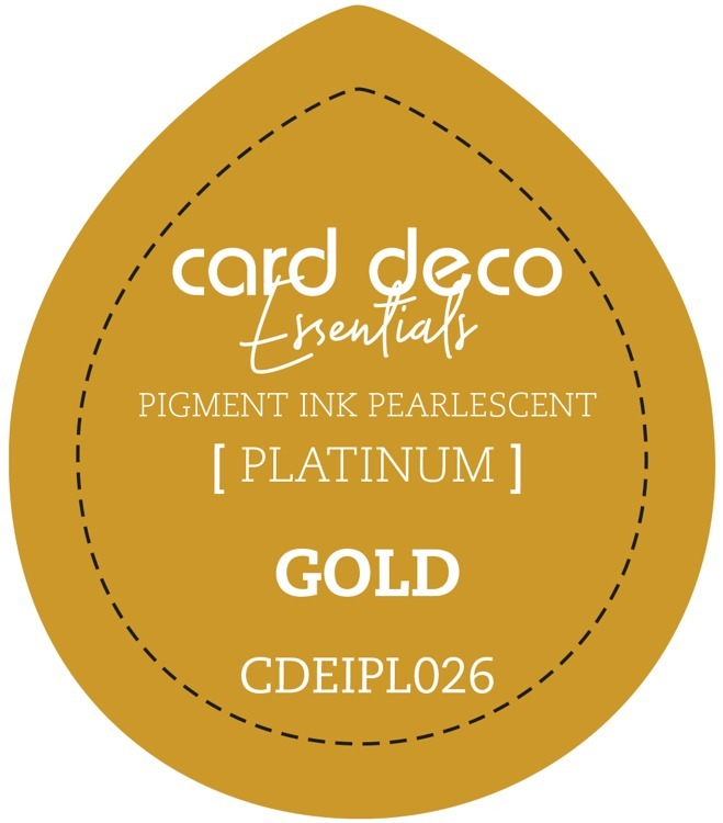 CDEIPL026 Card Deco Essentials Fast-Drying Pigment Ink Pearlescent Gold