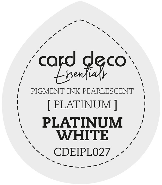 CDEIPL027 Card Deco Essentials Fast-Drying Pigment Ink Pearlescent Platinum White