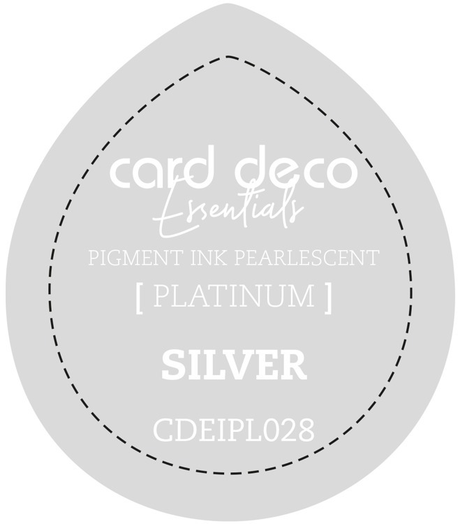 CDEIPL028 Card Deco Essentials Fast-Drying Pigment Ink Pearlescent Silver