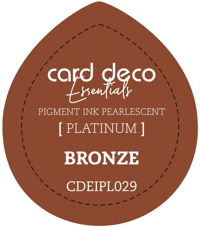 CDEIPL029 Card Deco Essentials Fast-Drying Pigment Ink Pearlescent Bronze