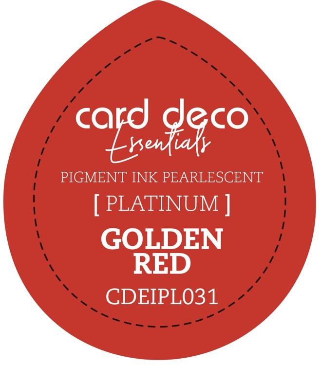 CDEIPL031 Card Deco Essentials Fast-Drying Pigment Ink Pearlescent Golden Red