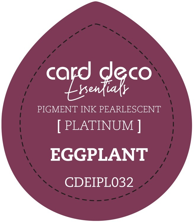 CDEIPL032 Card Deco Essentials Fast-Drying Pigment Ink Pearlescent Eggplant