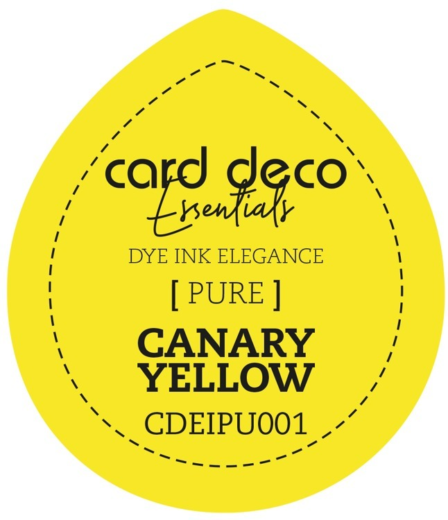 CDEIPU001 Card Deco Essentials Fade-Resistant Dye Ink Canary Yellow