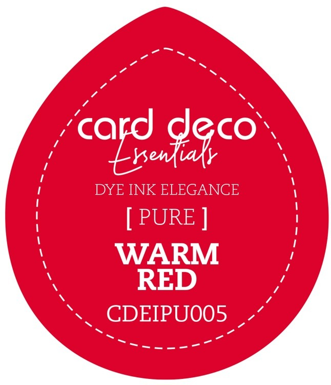 CDEIPU005 Card Deco Essentials Fade-Resistant Dye Ink Warm Red