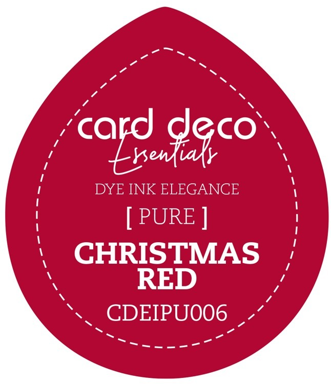 CDEIPU006 Card Deco Essentials Fade-Resistant Dye Ink Christmas Red