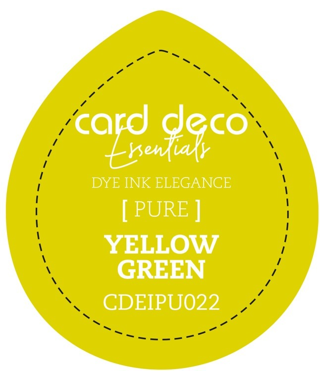 CDEIPU022 Card Deco Essentials Fade-Resistant Dye Ink Yellow Green