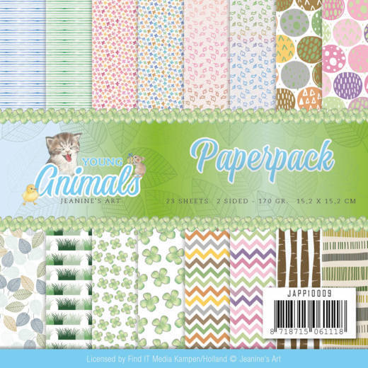 JAPP10009 Paperpack - Jeanine's Art - Young Animals