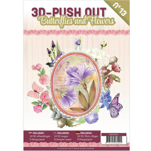 3DPO10013 3D Pushout Book 13 Butterflies and Flowers
