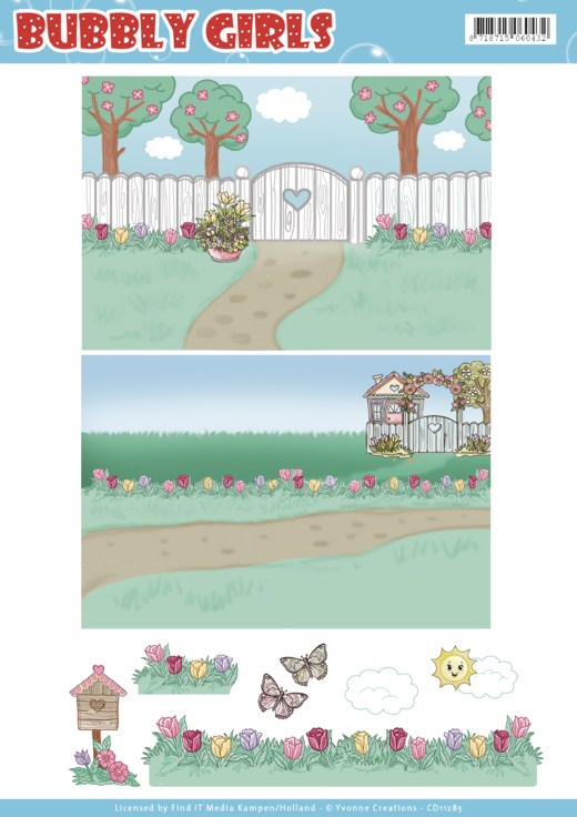 CD11285 Background Sheets - Yvonne Creations - Bubbly Girls - Spring